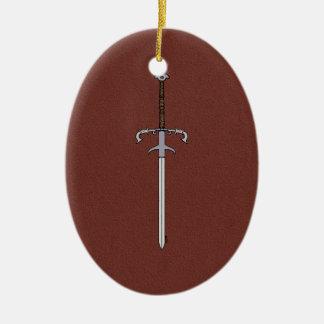 Ornamento De Cerâmica Espada do século XVI do rolamento