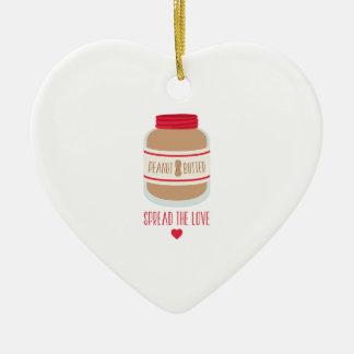 Ornamento De Cerâmica Espalhe o amor