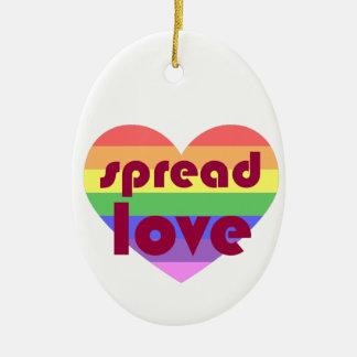 Ornamento De Cerâmica Espalhe o amor alegre