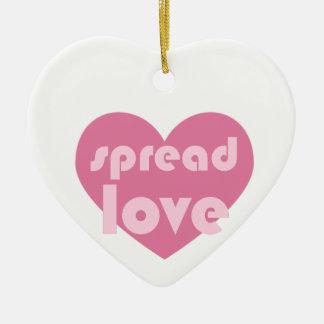 Ornamento De Cerâmica Espalhe o amor (geral)