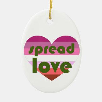 Ornamento De Cerâmica Espalhe o amor lésbica