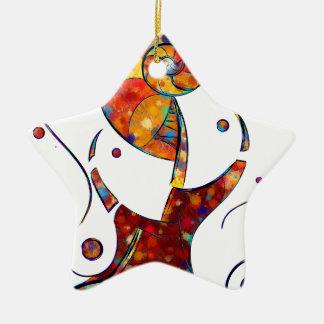 Ornamento De Cerâmica Espanessua - flor espiral imaginária