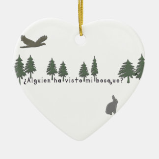 Ornamento De Cerâmica Espanhol-Floresta