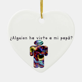 Ornamento De Cerâmica Espanhol-Pai