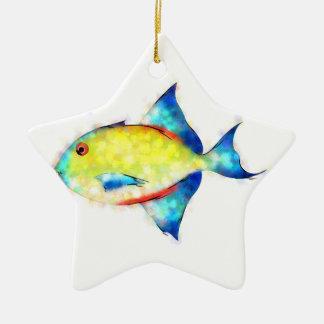 Ornamento De Cerâmica Esperimentoza - peixe lindo