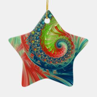 Ornamento De Cerâmica Espiral brilhante