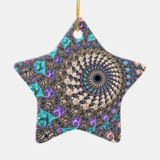 Ornamento De Cerâmica Espiral do Fractal