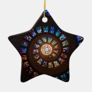 Ornamento De Cerâmica Espiral do vitral