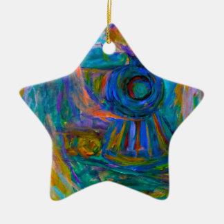Ornamento De Cerâmica Espírito do trem