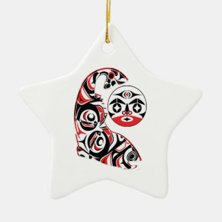 Ornamento De Cerâmica Espírito Salmon