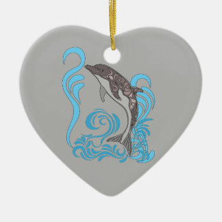 Ornamento De Cerâmica Espirro do golfinho