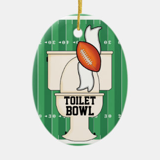 Ornamento De Cerâmica Esportes - BACIA de toalete
