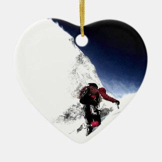 Ornamento De Cerâmica Esportes do extremo do montanhista de montanha