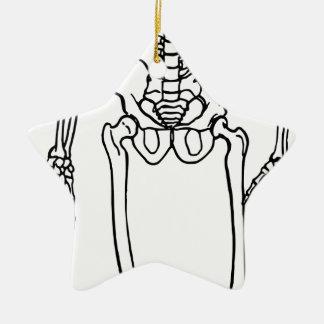 Ornamento De Cerâmica Esqueleto alto