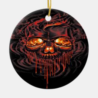Ornamento De Cerâmica Esqueletos vermelhos sangrentos