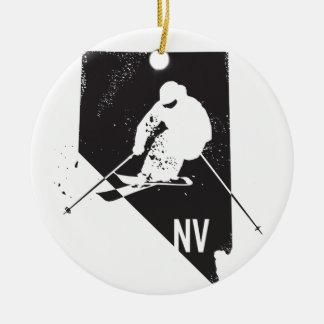 Ornamento De Cerâmica Esqui Nevada