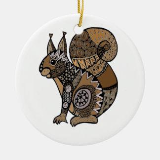 Ornamento De Cerâmica Esquilo