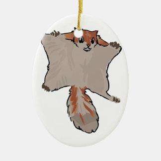Ornamento De Cerâmica Esquilo de vôo
