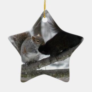 Ornamento De Cerâmica Esquilo preto