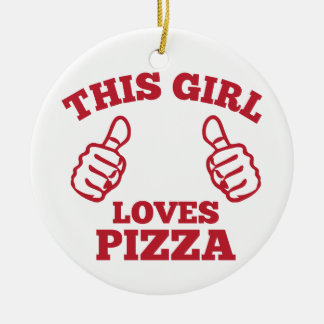 Ornamento De Cerâmica Esta menina ama a pizza
