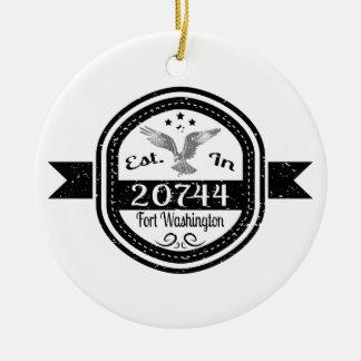 Ornamento De Cerâmica Estabelecido 20744 no forte Washington