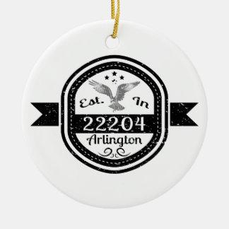 Ornamento De Cerâmica Estabelecido em 22204 Arlington