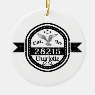 Ornamento De Cerâmica Estabelecido em 28215 Charlotte