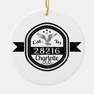Ornamento De Cerâmica Estabelecido em 28216 Charlotte