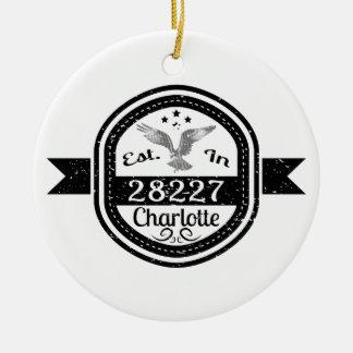 Ornamento De Cerâmica Estabelecido em 28227 Charlotte