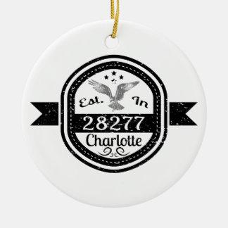 Ornamento De Cerâmica Estabelecido em 28277 Charlotte