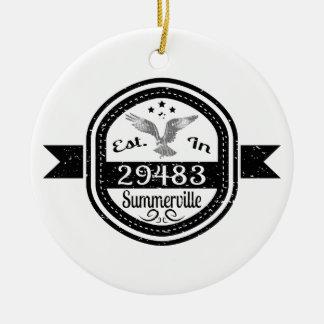 Ornamento De Cerâmica Estabelecido em 29483 Summerville