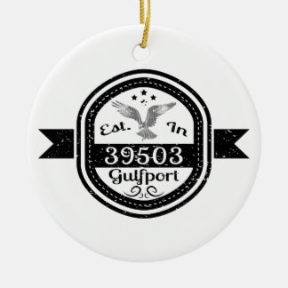 Ornamento De Cerâmica Estabelecido em 39503 Gulfport