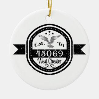 Ornamento De Cerâmica Estabelecido em 45069 Chester ocidental