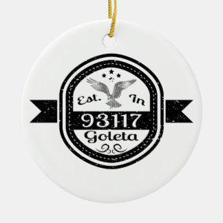 Ornamento De Cerâmica Estabelecido em 93117 Goleta
