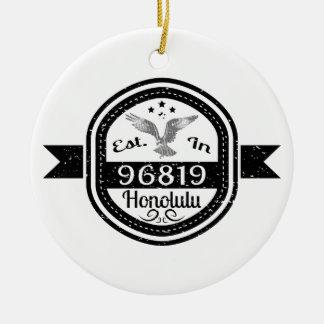 Ornamento De Cerâmica Estabelecido em 96819 Honolulu