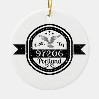 Ornamento De Cerâmica Estabelecido em 97206 Portland