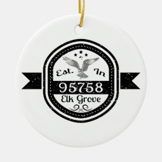 Ornamento De Cerâmica Estabelecido no bosque de 95758 alces