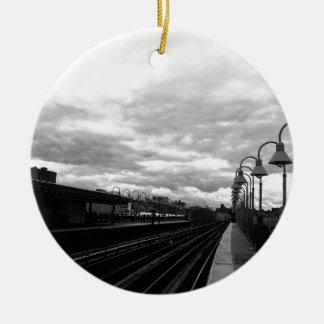 Ornamento De Cerâmica Estação de caminhos-de-ferro