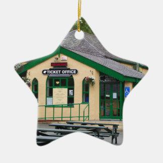 Ornamento De Cerâmica Estação de comboio da montanha de Snowdon,
