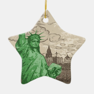 Ornamento De Cerâmica Estátua da liberdade clássica