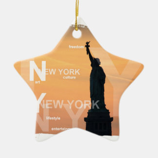 Ornamento De Cerâmica estátua da liberdade ny EUA da Nova Iorque