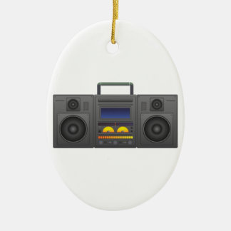 Ornamento De Cerâmica estilo Boombox de Hip Hop dos anos 80