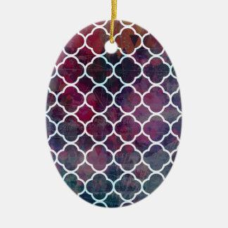 Ornamento De Cerâmica Estilo cor-de-rosa do marroquino do Grunge