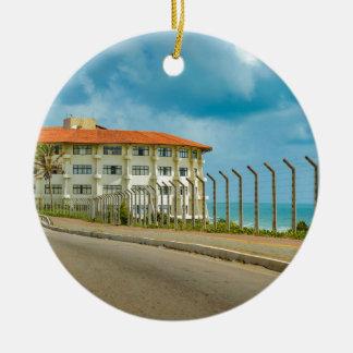 Ornamento De Cerâmica Estilo ecléctico que constrói Brasil natal