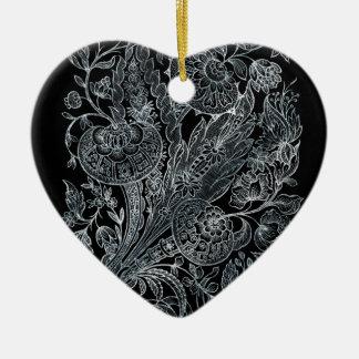 Ornamento De Cerâmica estilo floral de prata do embutimento