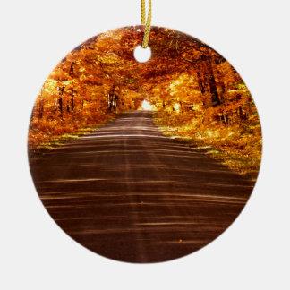 Ornamento De Cerâmica Estrada da ilha de St Joseph na cor completa da