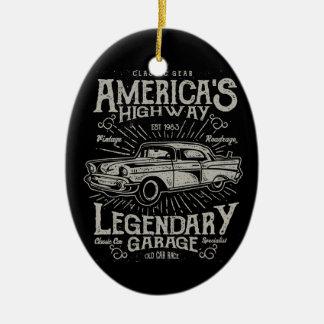Ornamento De Cerâmica Estrada do carro | Hotrod americano clássico do