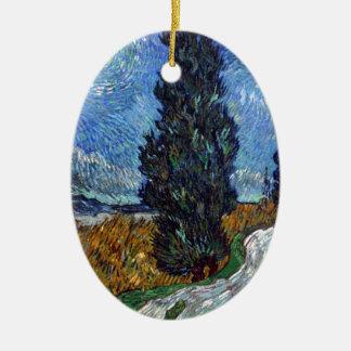 Ornamento De Cerâmica Estrada secundária de Vincent van Gogh em Provence