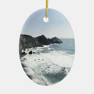 Ornamento De Cerâmica Estrada Sur grande da Costa do Pacífico da vista