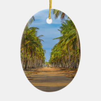 Ornamento De Cerâmica Estrada tópica Porto Galinhas Brasil da terra